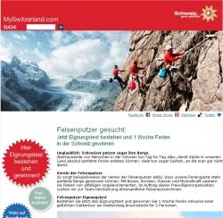 Schweiz Tourismus sucht Felsenputzer