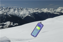 Handy im Skiurlaub