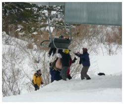 Skiurlaub nackt