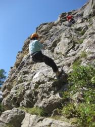 Klettern in Saas Fee