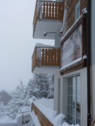 Schnee in Saas Fee