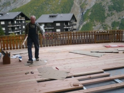 Terrassenbau in Saas Fee